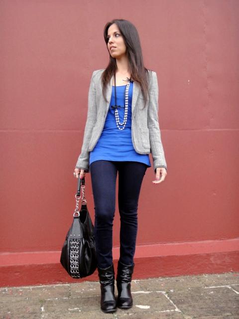 Outfit con skinny jeans y blazer en blog de moda Desde el Trópico