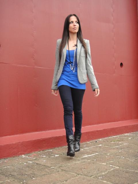 Look casual con blazer y skinny jeans marca MANGO en blog de moda Desde el Trópico