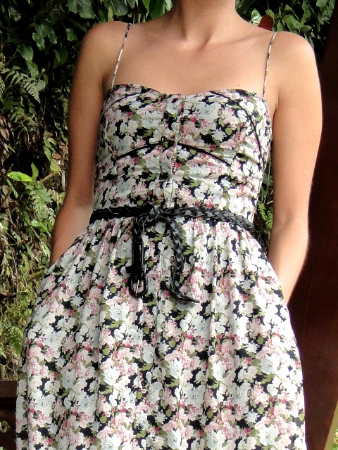 Midi dress. Zara primavera/verano 2011.