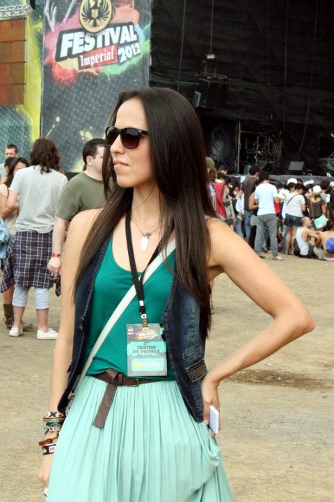 Falda color menta de Zara en mi look del primer día del Festival Imperial 2012