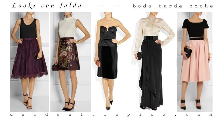 Consejos de estilo looks con falda para una boda blog for Bancos abiertos por la tarde