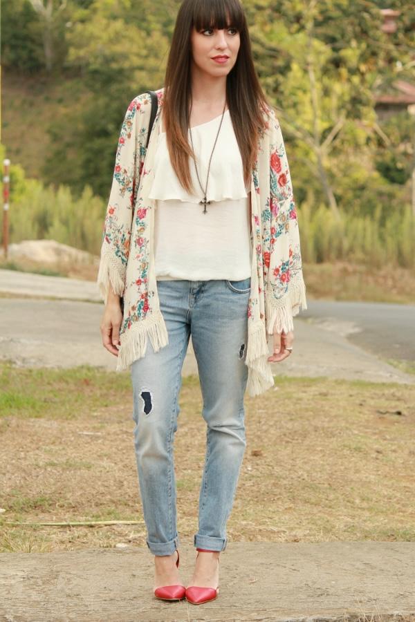 Chaqueta kimono y jeans u201cboyfriendu201d - Blog de Moda Costa ...