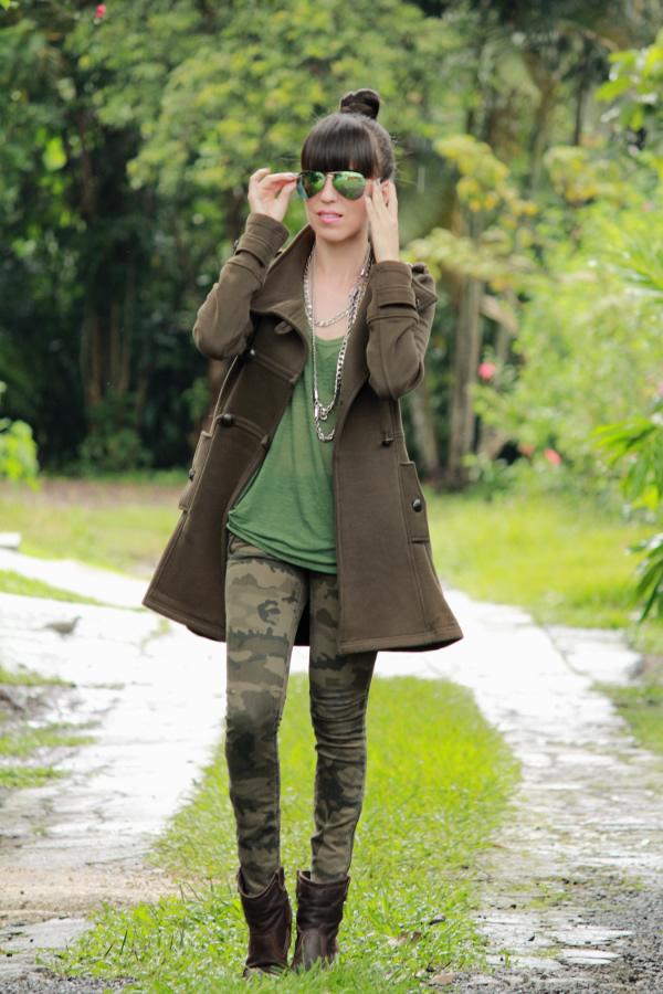 Verde militar y estampado de camuflaje - Blog de Moda Costa Rica - Fashion Blog