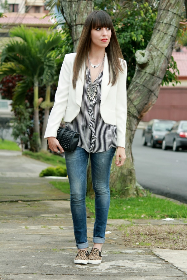 Tenis u0026quot;slip-onu0026quot; en un outfit con blazer - Blog de Moda Costa Rica - Fashion Blog