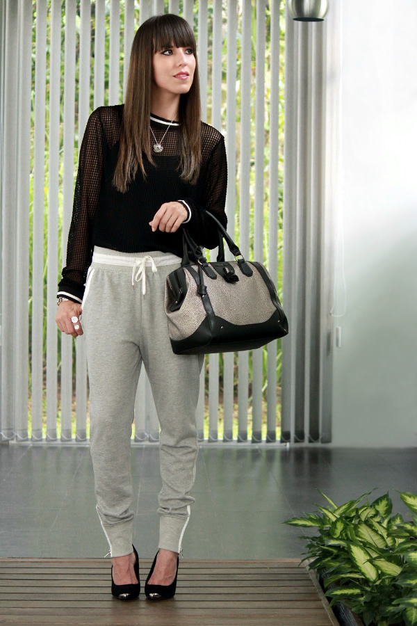 Resultado de imagen para outfit con pantalon deportivo