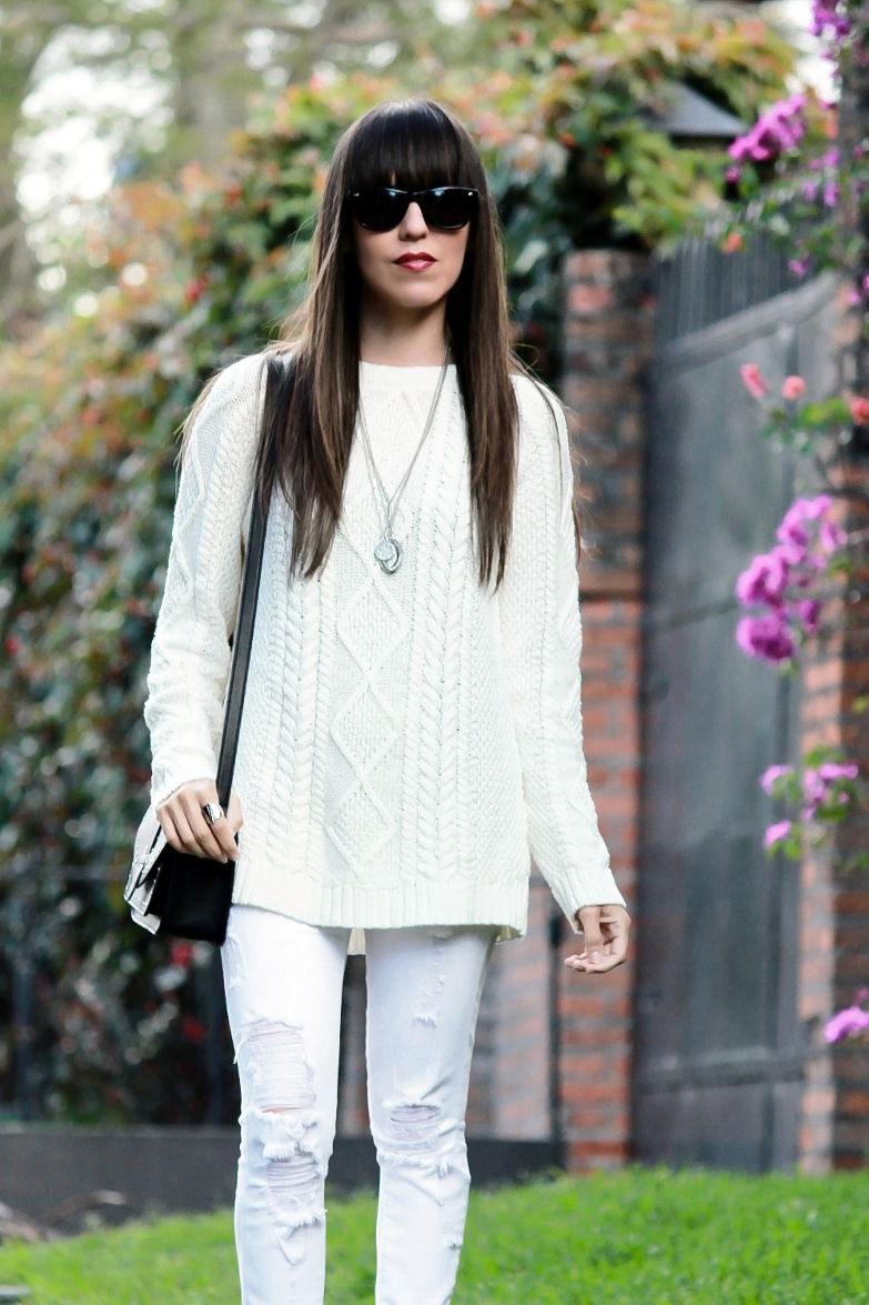 wonderful sueter blanco mujer outfit y