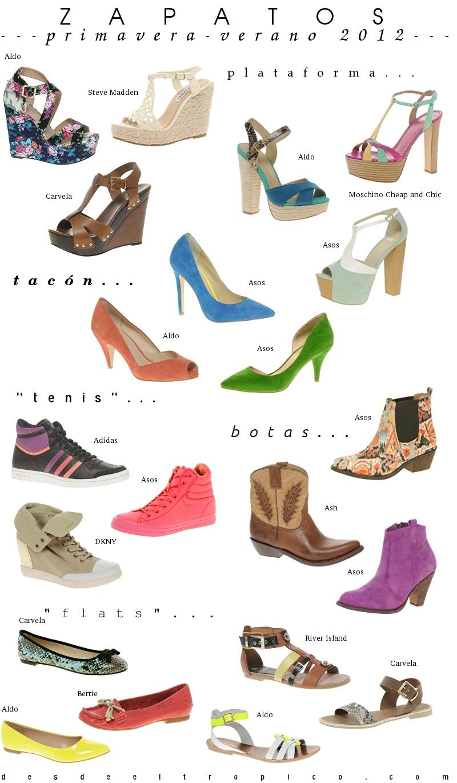 Moda zapatos primavera verano 2012 botas sandalias zapatillas tenis blog de moda costa - Zapatos collage ...