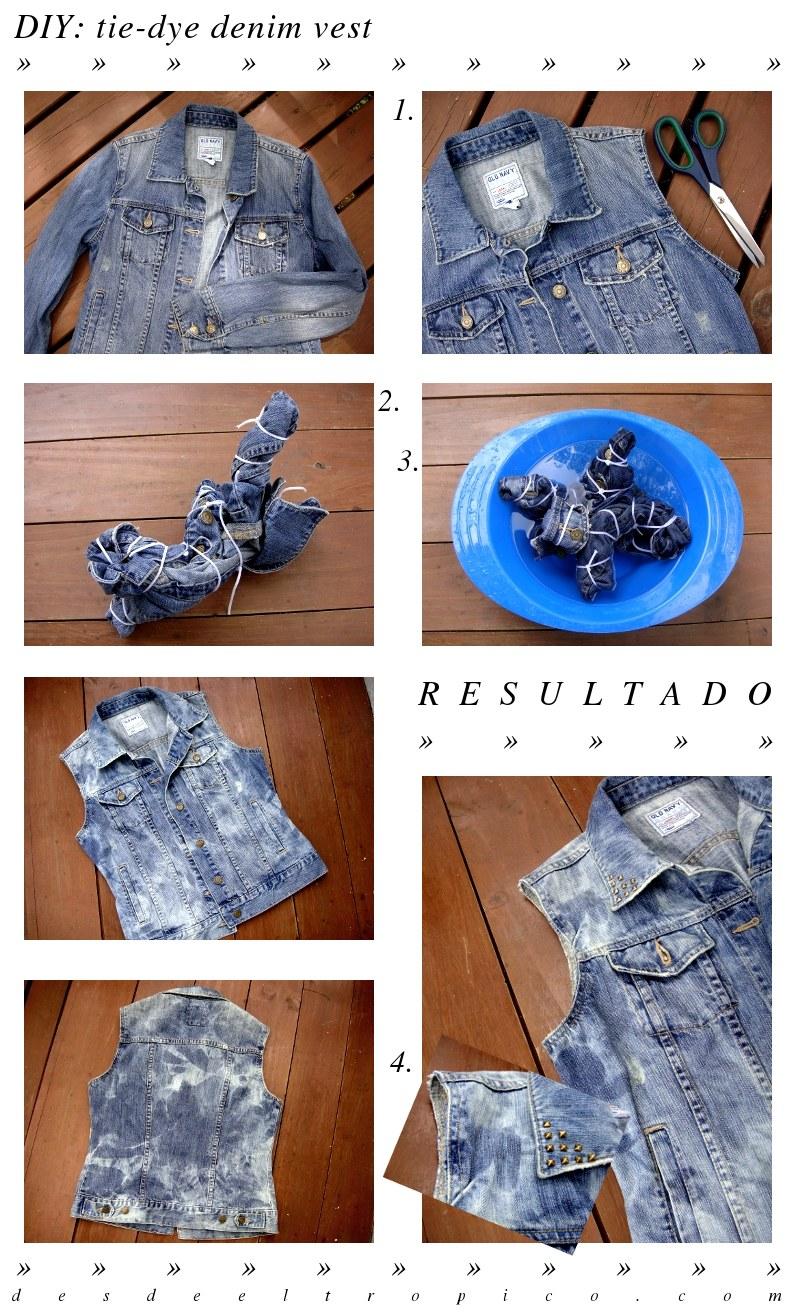 DIY  Cómo hacer un chaleco de mezclilla a partir de una jacket ... c69594ca58d0