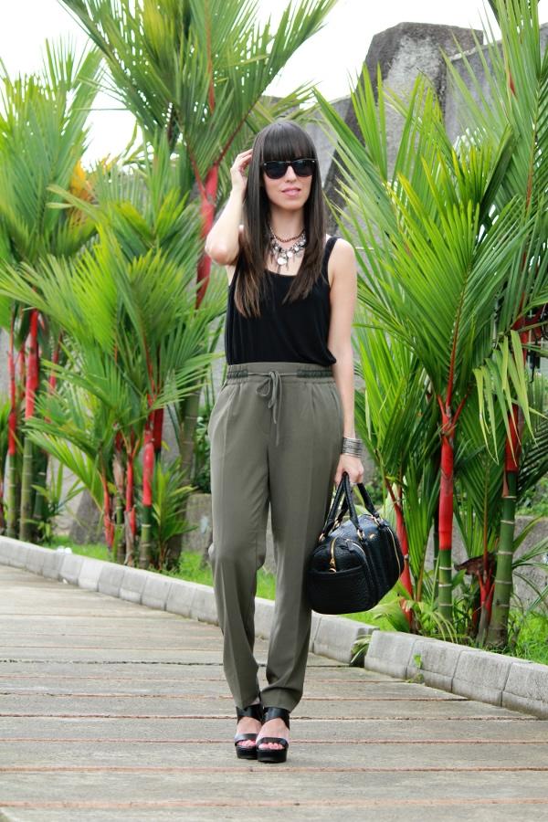 Pantalones Verde Militar Y Negro Blog De Moda Costa Rica